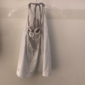 lululemon athletica Tops - Lululemon white with gray tank, sz 4, 64259